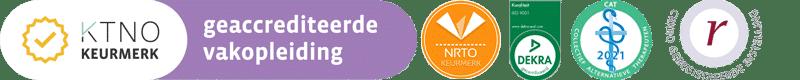 Geaccrediteerde vakopleiding logo's